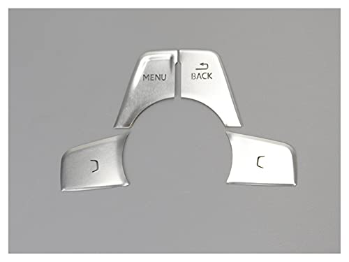 Accesorios de Interior para Au-di A4 B9 A5 Gears Shift Panel Cubre Botones Multimedia Decoración Pegatina Interior Auto Accesorios (Color : C)