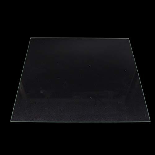 XACQuanyao LMY-Pulley, Placa 1pc Vidrio borosilicato de 330 * 330 * 3 mm climatizada Cama for Impresora DIY 3D