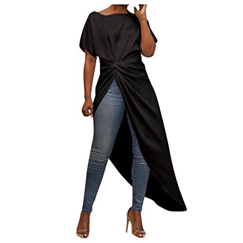 BaZhaHei de Tops de Mujer Blusa AsiméTrica Casual Camisa Ma