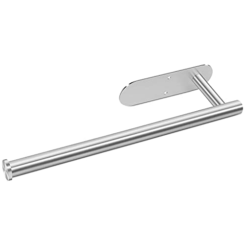Zuzcher Portarrollos de Cocina sin Perforación Soporte para Papel de Cocina Acero Inoxidable Plata