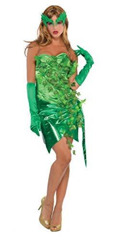 Fancy Me Damen Sexy Grün Wald Imp Toxisch Efeu Fee Halloween Karneval Tv Buch Film Kostüm Kleid Outfit UK 8-16 Eu 36-44 - UK 8-10 EU 36-38