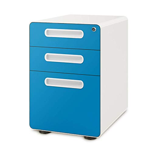 Devaise 3-Drawer Mobile File Cabinet