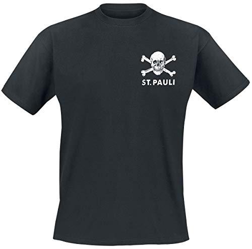 FC St. Pauli Totenkopf II Männer T-Shirt schwarz XL