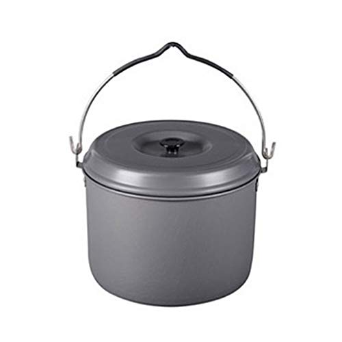 Camping Village Camping Pot Cookware, Portable Cooking Pot for Outdoor Camping Hiking Large 9 x 6.49inch