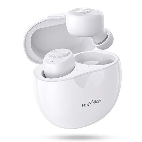 HolyHigh Bluetooth Kopfhörer in Ear, Kopfhörer Kabellos mit Stereoklang HD Anruf Wireless Kopfhörer, 25 Std. Spielzeit/Leichtes/Wasserdicht/Integriertem Mikrofon
