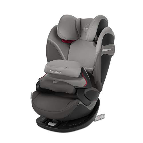 CYBEX Gold 2-in-1 Kinder-Autositz Pallas S-Fix, Für Autos mit und ohne ISOFIX, Gruppe 1/2/3 (9-36 kg), Ab ca. 9 Monate bis ca. 12 Jahre, Soho Grey