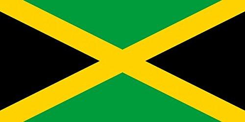 M & M MM Jamaïque Drapeau, résistant aux intempéries, Multicolore, XXL, 250 x 150 x 1 cm, 16314