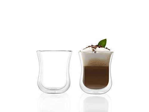 Stölzle Lausitz Kaffeegläser Coffee 'N More 180 ml I Thermogläser 2er Set I doppelwandige Kaffeebecher I orientalische Teegläser aus Borosilikatglas I spülmaschinenfest & mirkowellengeeignet