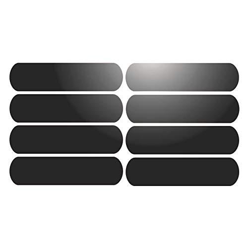 8Klebestreifen, reflektierend für Helme auf 8x 2cm–Schwarz Reflektierend