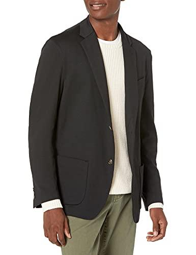 Amazon Essentials Men's Unlined Knit Sport Coat, Black, Medium