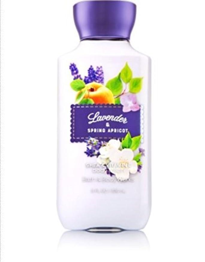 さびた乱雑な窒素バス&ボディワークス ラベンダー&スプリングアプリコット ボディローション Lavender & Spring Apricot body lotion [並行輸入品]