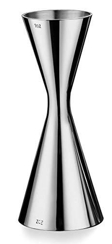 Misurino per Cocktail Alcolico, Gin Jigger 30ml / 60ml, Acciaio Inossidabile, Argento - 5 x 5 x 13 cm