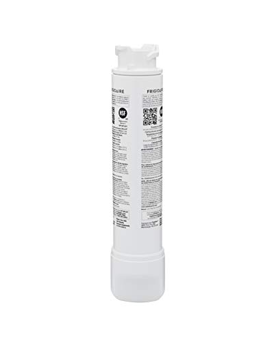 Frigidaire eptwfu01 refrigerator water filter, 1 count, white 2 make safe water second nature: certified to reduce contaminants and keep great tasting water flowing for you and your family filters out up to 99% of contaminants: reduces chlorine taste & odor, particulates class i, cysts, lead, mercury, pesticides, insecticides, bpa, asbestos, pharmaceuticals and more push & twist easy install: always review your use & care guide before installation, to install slide new filter in with grip oriented horizontally. Push firmly and turn 90° to the right until it snaps into place