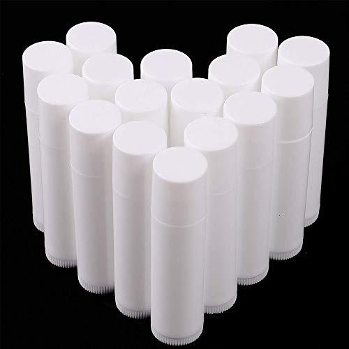 50 piezas tubos de lápiz labial de plástico vacíos, Tubo Bálsamo Labio, Envases de Labios Bálsamo Contenedor para bricolaje bálsamos labiales caseros recargables