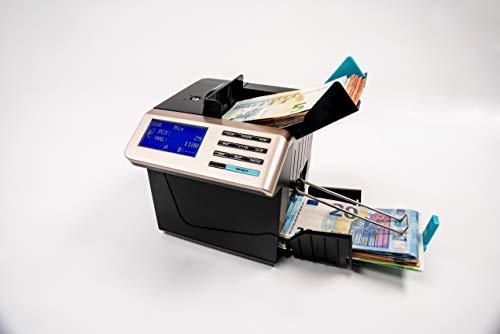 HILTON EUROPE HE-6100 actualizado a los nuevos billetes de 100 y 200€ Contador totalizador de Billetes portátil con batería cuenta dinero mezclado con detección de billetes falsos