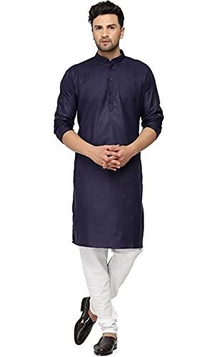 Aavi CollectionMen's Cotton Blend Regular Kurta Set (KC/Man-Kurta Set_P)