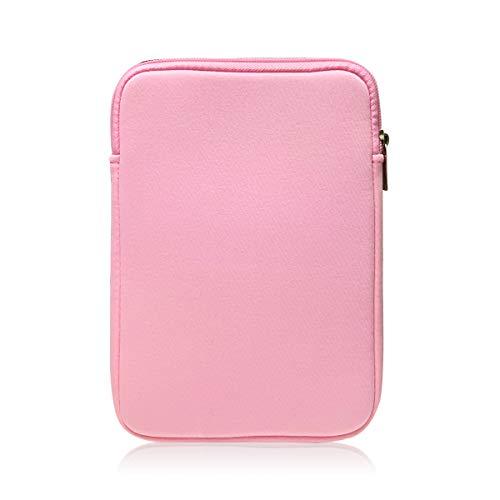 9-10 Inch Tablet Sleeve Bag, HannyBoo Protective Neoprene Zipper Case Cover for iPad 9.7 2018, iPad Pro 9.7, iPad 4/3, iPad Air 2, Surface Go, Galaxy Tab S3 9.7 inch, iPad 6th Generation - Pink