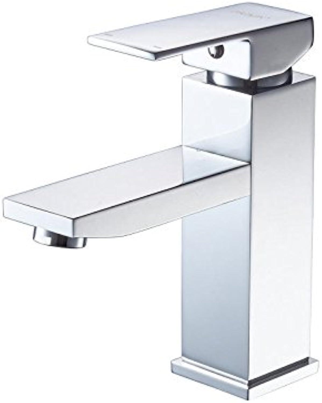 MNLMJ SpülbeckenhahnModerne einfacheKupfer hei und kalt Spülbecken Wasserhhne KüchenarmaturKupfer Einloch heier und kalter Becken Wasserhahnüberzug Geeignet für alle Badezimmer Spülbecken