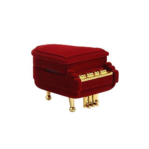 LUOEM Ringbox Klavier Form für Halskette Anhänger Ohrring Hochzeit Kreative