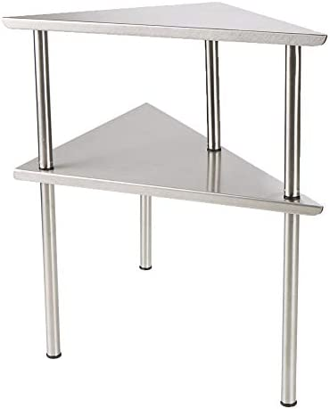 Mind Reader 2 Tier All Purpose Metal Kitchen Corner Rack Silver product image