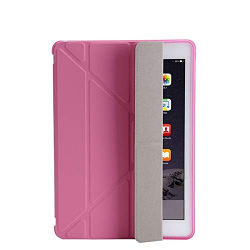 HHF Tab Accessories For ipad 2/3/4 9.7 2018/2017 5/6th, Ultra Thin PU Leather Soft Smart Cover for iPad MINI 1/2/3/4/5 7.9' (Color : Pink, Size : Mini 4 7.9inch)
