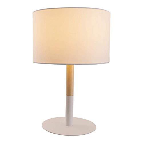 Näve Lámpara de mesa 'Tessile', madera, metal, textil, E14, 40 W