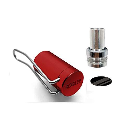 吸口の防塵保護 前後に装着可能 プルームテックプラス 対応 メタルキャップ 専用 ケース アクセサリー Koglee CAP V3タイプ 簡単装着 磁石吸着 持ち運び便利 ペンクリップ型 Ploom TECH+ おしゃれメタルキャップ コンパクト プルーム