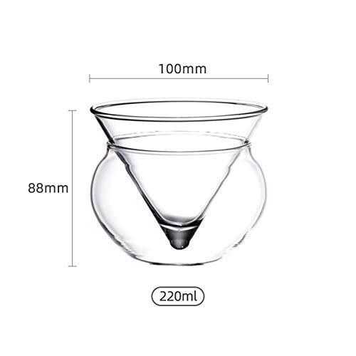 BAILINGFENGSHANG Cristal de Vidrio Forma Creativa Camarero Helado De Martini Party For Glass Bar Cóctel Cono Esfera Balón del Conjunto De Mezcla Copas De Vino Seguro (Color : 220ml)