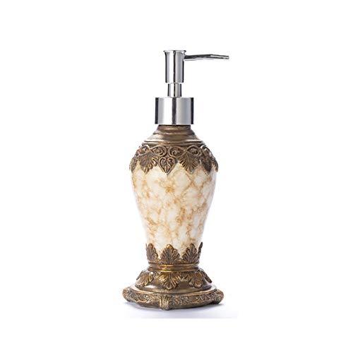 Dispensadores de loción Dispensador de jabón de baño, dispensador de jabón retro, botella de bomba de mano de resina, lociones y líquidos, accesorios para baño en el hogar, 300 ml Dispensadores de jab