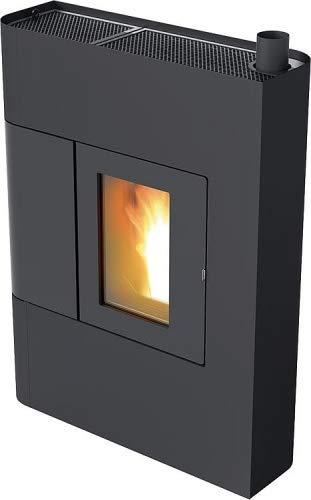 Pelletofen RED Althea Multiair 9 kW Pellet Ofen Warmluftverteilung Farbe Metall-Schwarz