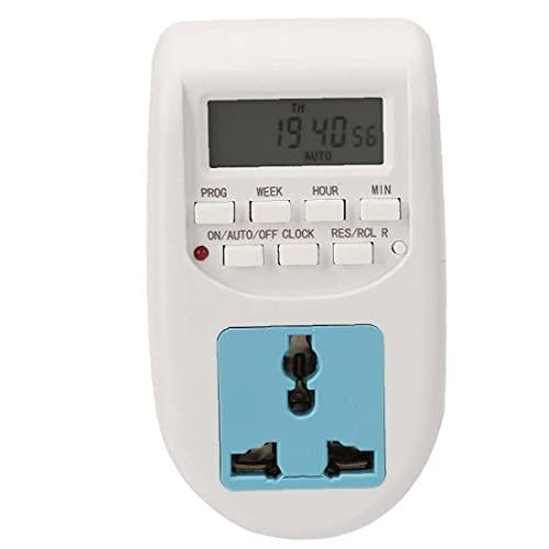 Temporizador programable del zócalo del enchufe eléctrico digital LCD 220V interruptor de la luz del día 7 de ahorro de energía antirrobo AL-06 Industria