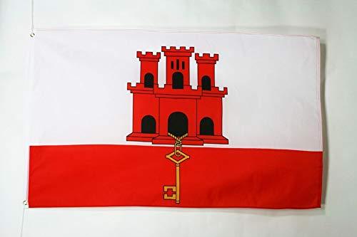 AZ FLAG Bandera de Gibraltar 90x60cm - Bandera GIBRALTAREÑA 60 x 90 cm