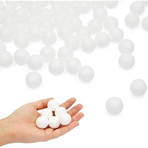 Juvale Mini 1 Inch Foam Balls for Arts and Crafts Supplies (100 Pack)
