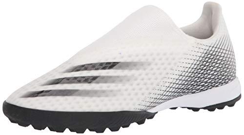 adidas mens X Ghosted.3 Ii Turf Soccer Shoe, White/Black/White, 9 US