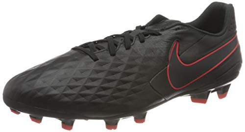 Nike Legend 8 Academy FG/MG, Scarpe per Calcetto a Cinque Uomo, Black Dk Smoke Grey Chile Red, 44.5 EU