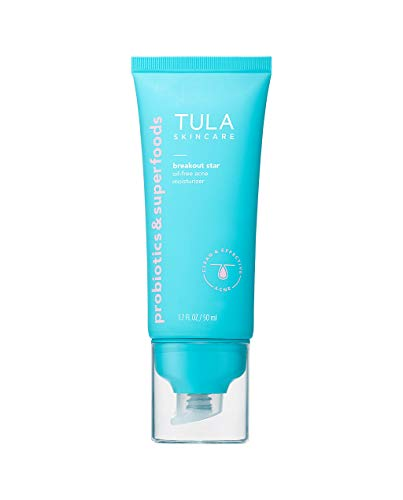 TULA Skin Care Breakout Star Oil-Free Acne Moisturizer | Lightweight, Hydrating Moisturizer Treats & Prevents Breakouts, Formulated with Azelaic & Salicylic Acid | 1.7 fl. oz.