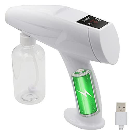 OBEST Nano Atomizador Azul Portátil, Atomizador Ultrafino, Rociador con Interruptor de Pantalla Táctil Completa, Botella Rociadora en Maceta(250ML)
