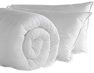 EGYPTO Premium Soft Hollowfibre Duvet with Jumbo Pillow Set - Luxurious Warm Quilt for Home, Hotel (Single, 13.5 Tog)