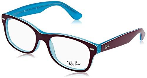 Ray-Ban Unisex-Erwachsene 0RY1528 Brillengestelle, Blau (Blue Trasp On Top Fuxia), 48