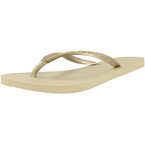 Havaianas Slim 4000030, Infradito Donna, Oro (Sand Grey/Light Golden 2719), 35/36 EU