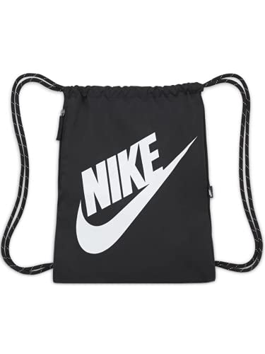 NIKE DC4245 NK HERITAGE DRAWSTRING - FA21 Sports bag unisex-adult black/black/white 1SIZE