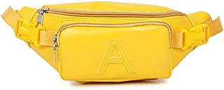 TOOGOO Casual Wild Small Fresh Shoulder Messenger Bag Waist Bag Candy Bag Yellow