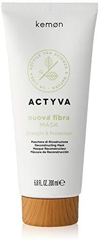 Kemon - Actyva Nuova Fibra Mask , Maschera Protettiva e Ristrutturante per Capelli Sfibrati o Danneggiati con Amaranto e Alga Rossa - 200 ml