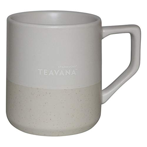 Starbucks Tasse, Teavana weiß zweifarbig gesprenkelt Tee Tasse