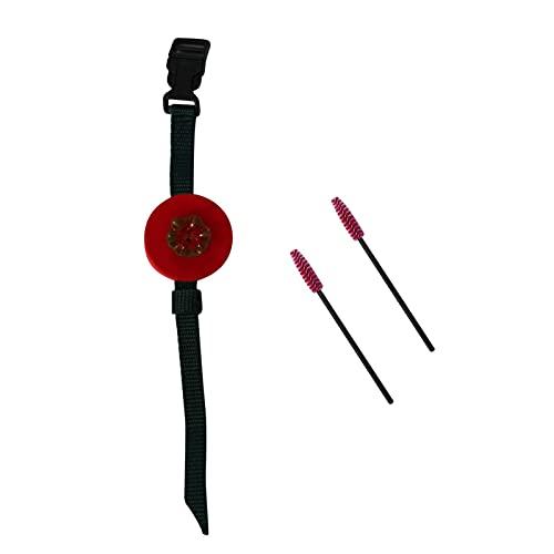 Kathariiy Wrist Hummingbird Feeder, Handheld Hummingbird Wrist Feeder, Hummingbird Wrist Feeder Feather Feed with Adjustable Belt, Hummingbird Feeder for Outdoor Use