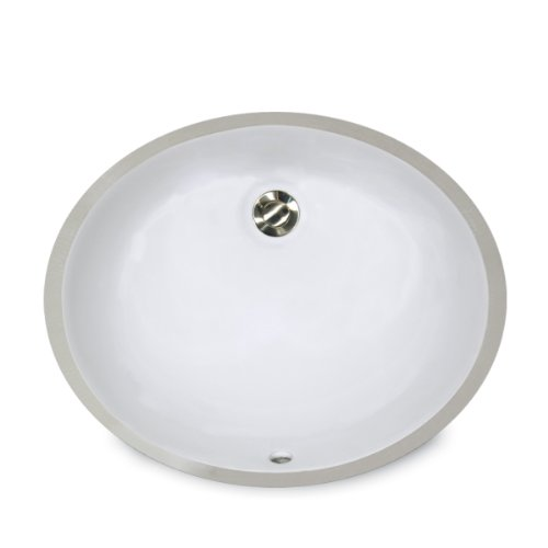 Nantucket Sinks UM-15x12-W 15-Inch by 12-Inch Oval Ceramic Undermount...