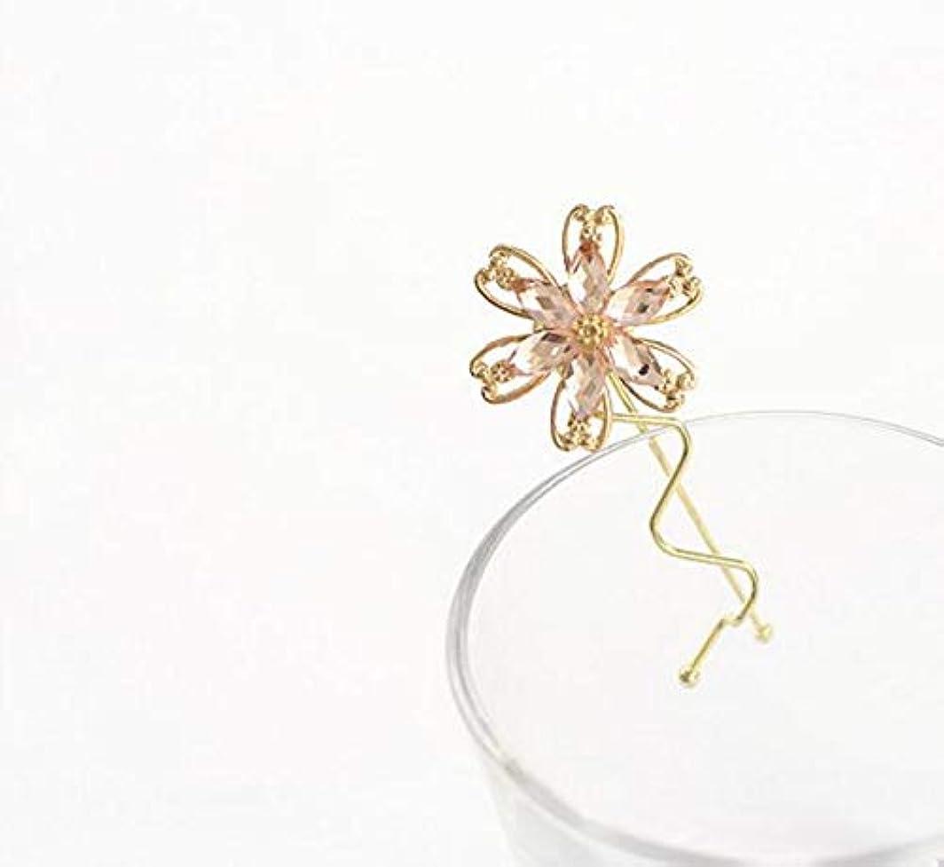 加入マージン加入HuaQingPiJu-JP ファッションシンプルな桜のヘッドウェア子供のヘアピン便利なヘアクリップ(ピンク)