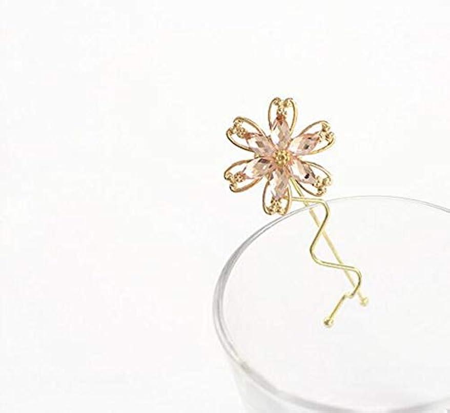 宣言する大臣オーストラリア人HuaQingPiJu-JP ファッションシンプルな桜のヘッドウェア子供のヘアピン便利なヘアクリップ(ピンク)