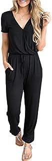 PRETTYGARDEN Women's Sexy Deep V Neck Short Sleeve Wrap...