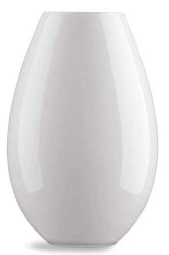 Holmegaard 4343203, Cocoon vaas, glazen vaas, H: 26 cm (wit)